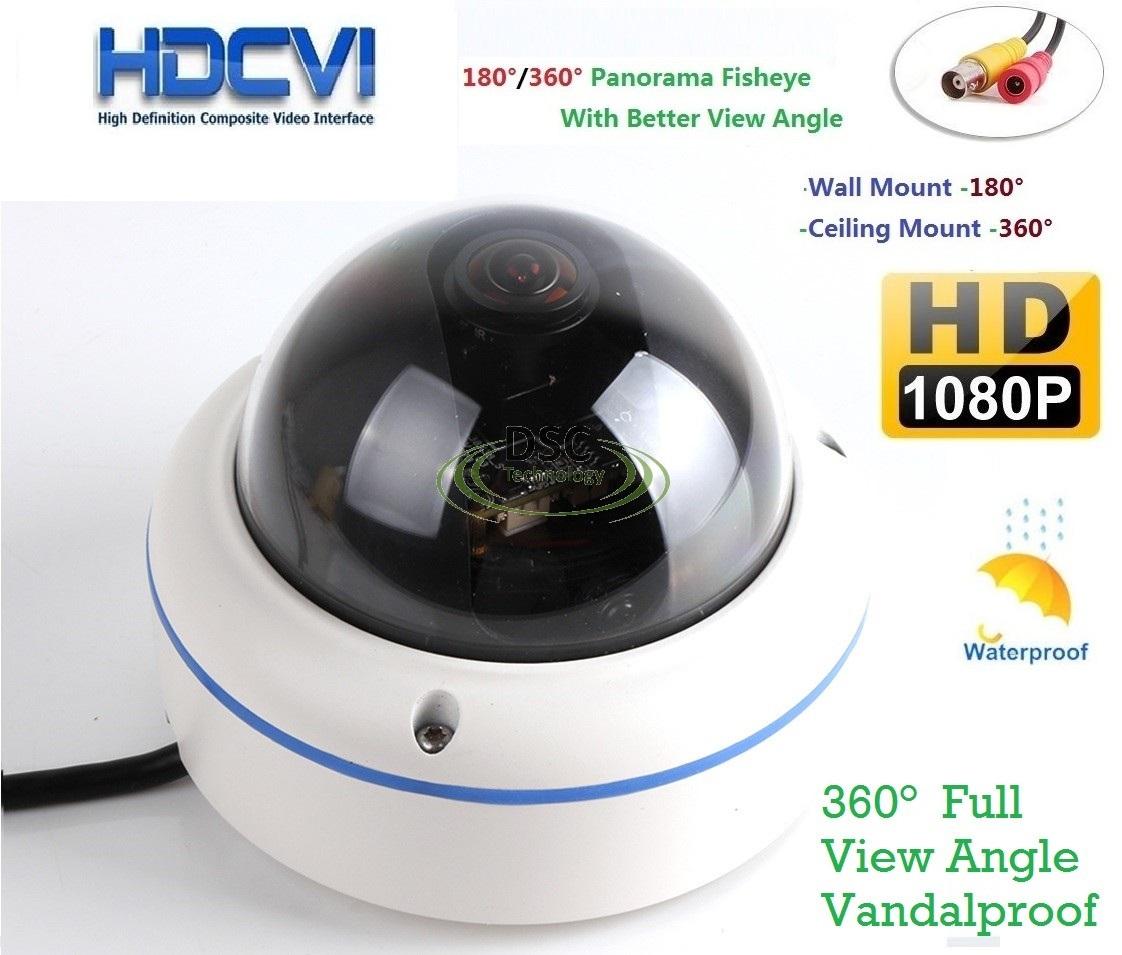 hd cvi fisheye panoramic cctv vandal camera 360 degree. Black Bedroom Furniture Sets. Home Design Ideas