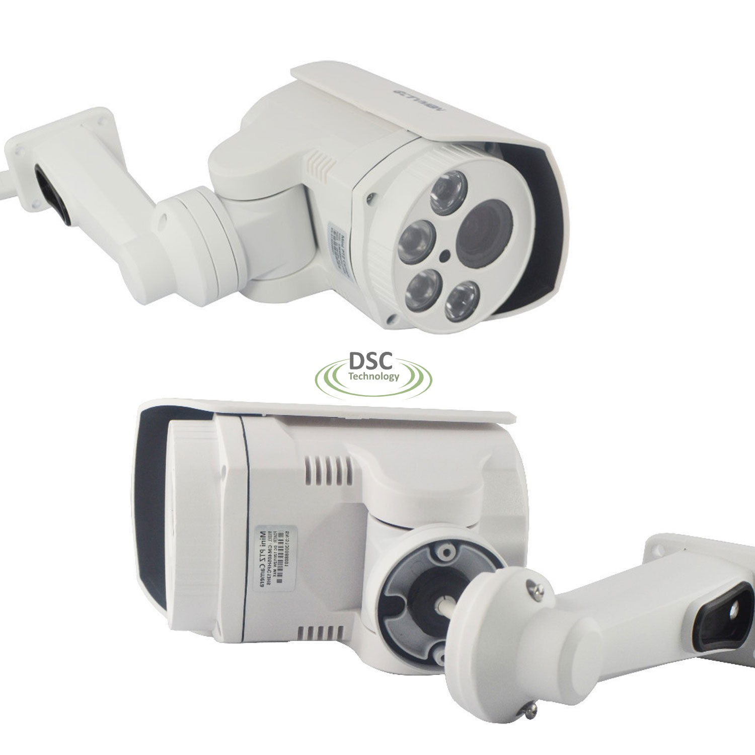 Rotary 1080p Outdoor Bullet Ptz Ip Camera With Poe Card