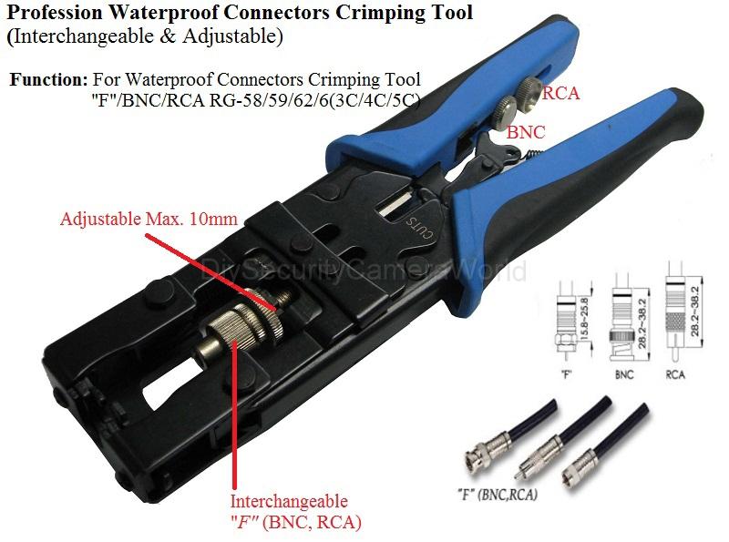 Coax Compression Connector Kit Compression Tool 10x Bnc