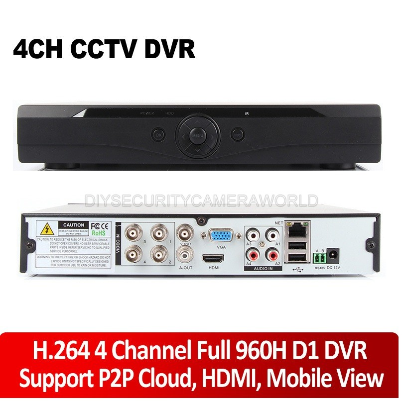 4CH H.264 security network CCTV standalone DVR Full D1 ...