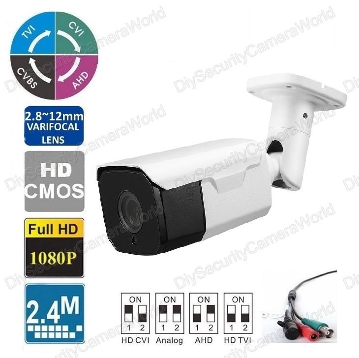 """HD-CVI Bullet Security Camera 2MP 2.8~12mm Varifocal Lens 1 //2.8"""" CMOS IR 150ft"""