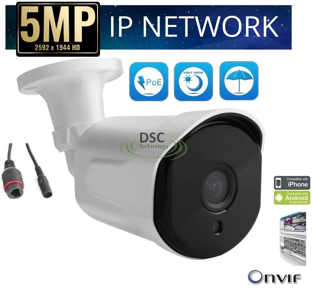 Details about CCTV security IP 6PCS ARRAY IR 5MP Bullet Camera ONVIF BLUE  IRIS RTSP NVR H 265