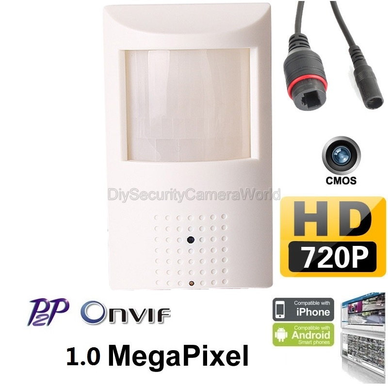 Details about HD 720P IP Security PIR Motion Sensor Covert Camera Support  P2P, Onvif, DC12V