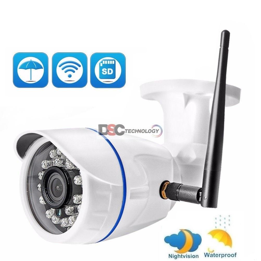 Wireless WIFI IP Camera 1080P Onvif Outdoor Security Waterproof IR Night Vision