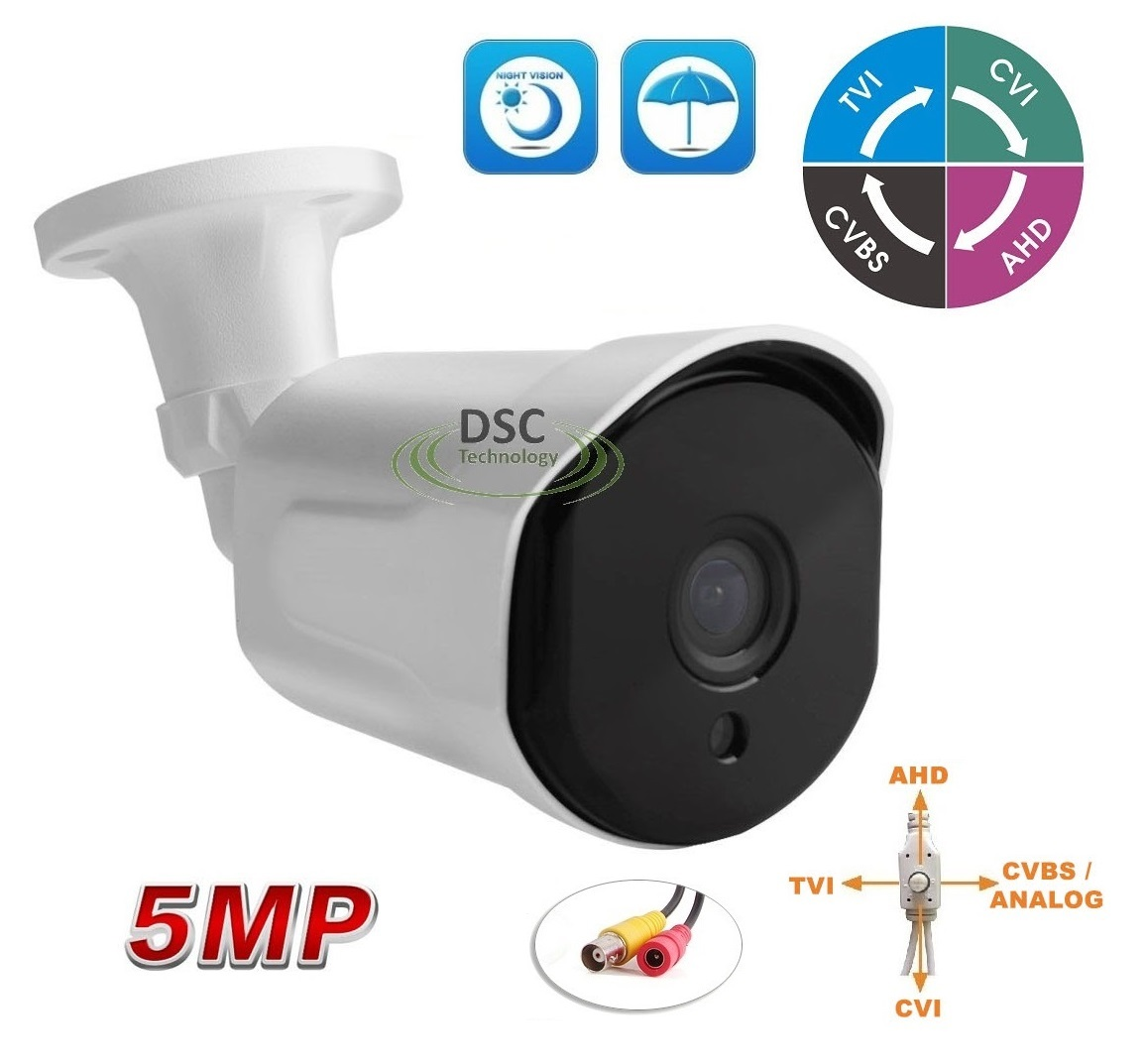 1080P Dome Security Camera 36 IR CCTV High Definition 4in1 TVI CVI AHD ANALOGUE