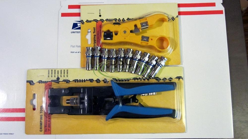 1pc BNC Connector Tool RCA Compression Coaxial Crimper RG-59 RG6