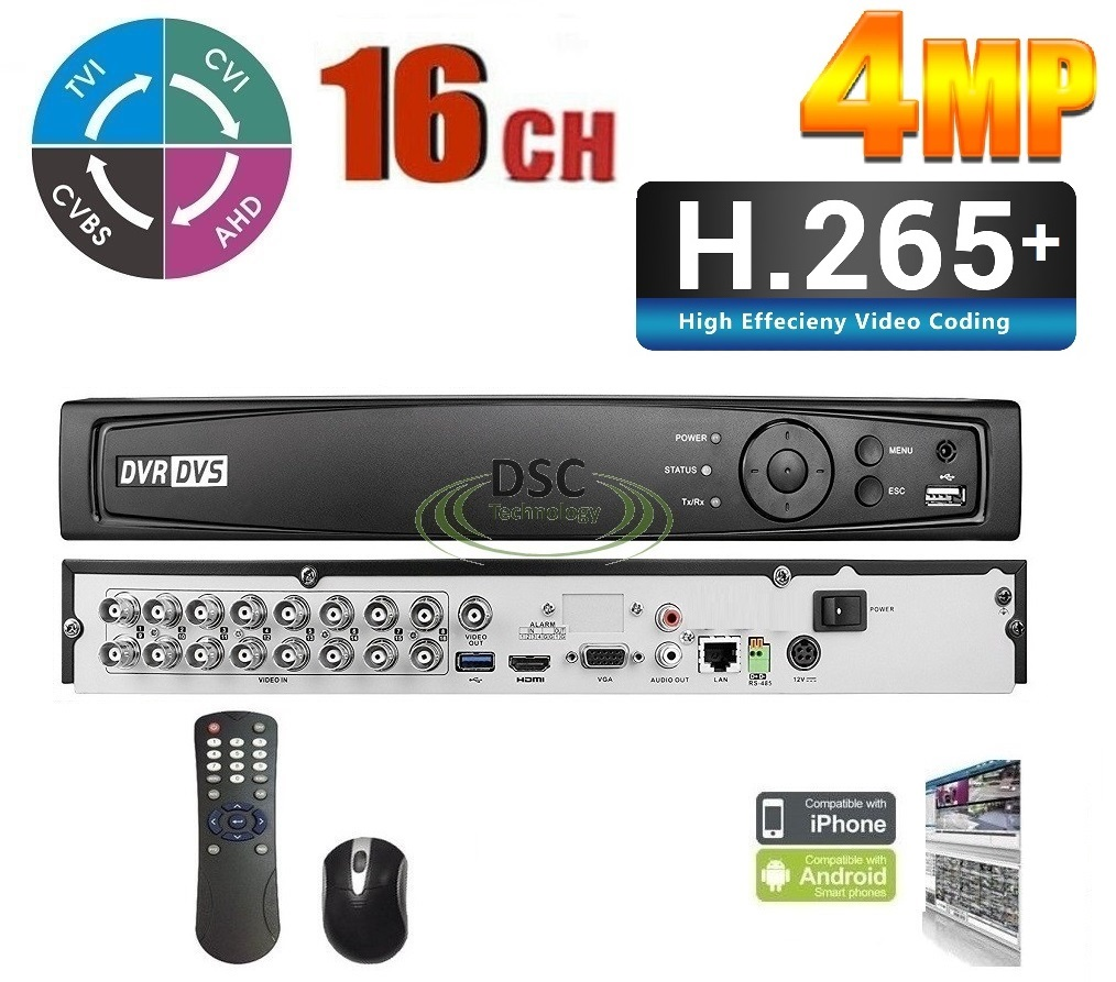 Details about Hikvision Made- HDTVI DVR 16Channel Support 720P/1080P  Recording and 2CH IP Cam
