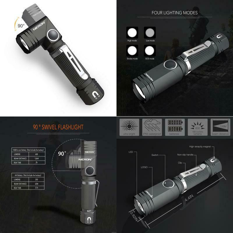 Flashlight Mini LED 20000LM Pen Light Survive Hunting Powered Battery AO
