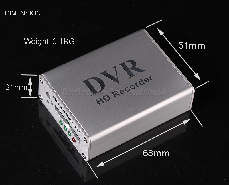 micro video recorder motion detection dvr sd card cctv